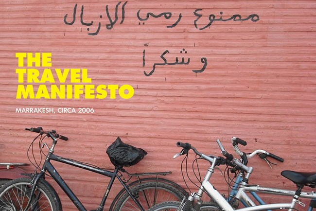 THE TRAVEL MANIFESTO